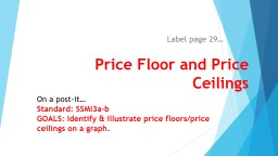 Price Floor and Price Ceilings