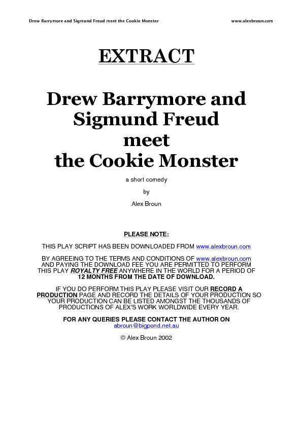 3 Drew Barrymore and Sigmund Freud meet the Cookie Monster   Night.