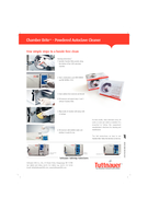 Chamber Brite TM Chamber Brite  Powdered Autoclave Cleaner Convenient premeasured packets Cleans reservoir chamber and tubing Uses less storage space Replaces messy liquid cleaners No Mess No Hassles