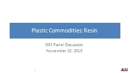 Plastic Commodities: Resin