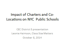 Impact of Charters and Co-Locations on