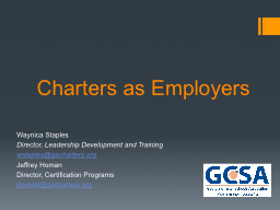 Charters as Employers