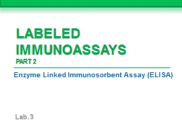 Labeled Immunoassays PowerPoint PPT Presentation