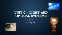 Unit c – Light and Optical systems