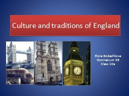 Culture and traditions of England