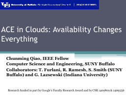 ACE in Clouds: Availability Changes Everything
