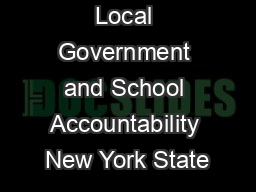 Division of Local Government and School Accountability New York State PowerPoint PPT Presentation