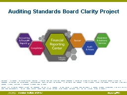 Auditing Standards PowerPoint PPT Presentation
