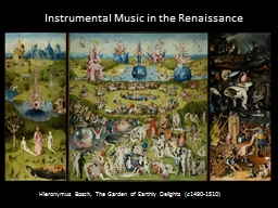 Instrumental Music in the Renaissance