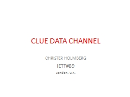 CLUE DATA CHANNEL