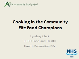 Cooking in the Community