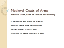 Medieval Coats-of-Arms PowerPoint PPT Presentation