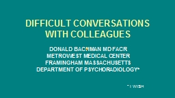 DIFFICULT CONVERSATIONS WITH COLLEAGUES