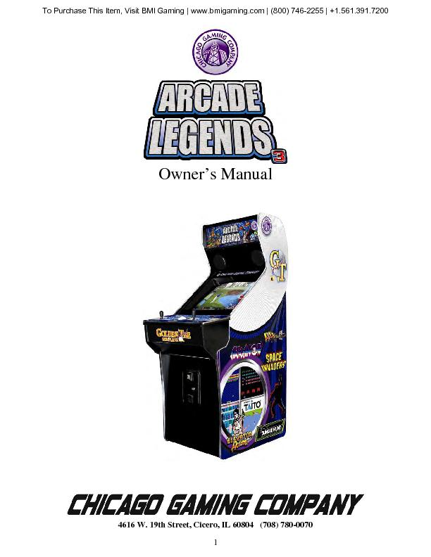 To Purchase This Item, Visit BMI Gaming   www.bmigaming.com   (800) 74