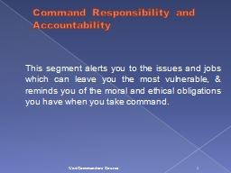Command Responsibility and Accountability PowerPoint PPT Presentation