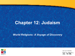 Chapter 12: Judaism PowerPoint PPT Presentation