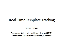 Real-Time Template Tracking PowerPoint Presentation, PPT - DocSlides