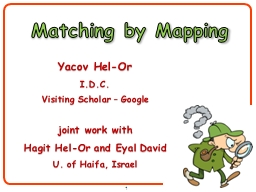 1 Matching by Mapping
