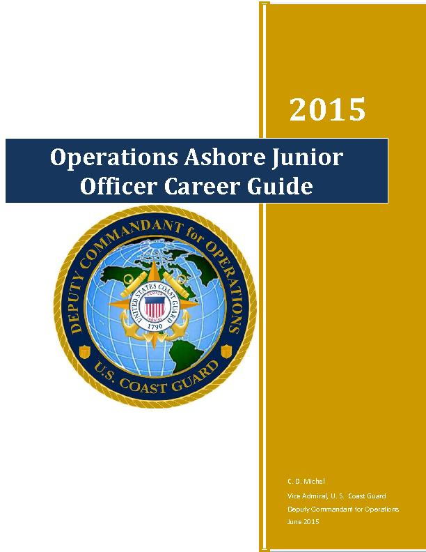 Operations Ashore Junior Officer Career Guide