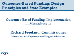 Outcomes-Based Funding: Design Principles and State Example