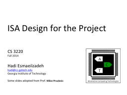 ISA Design for the Project