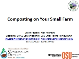 Composting on Your Small Farm