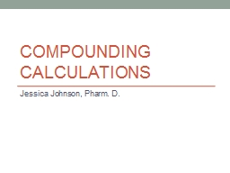 Compounding Calculations