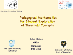 Pedagogical Mathematics