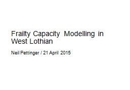 Frailty Capacity Modelling in West Lothian
