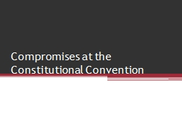 Compromises at the PowerPoint PPT Presentation