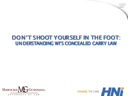 Don't Shoot Yourself in the foot: