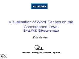 Visualisation of Word Senses on the Concordance Level