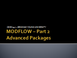MODFLOW – Part 2