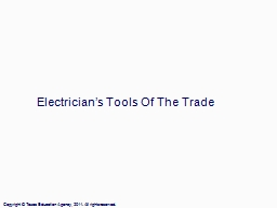 Electrician's Tools Of The Trade