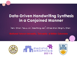 Data-Driven Handwriting Synthesis in a Conjoined Manner