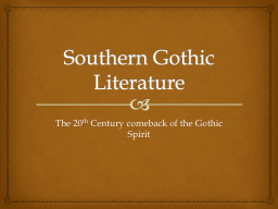 southern gothic writing Southern gothic is a subgenre of gothic fiction in american literature that takes place in the american south.