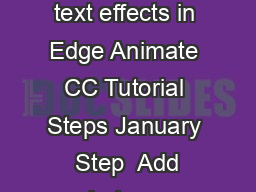 nspire Magazine Exploring parallax scrolling animation and text effects in Edge Animate CC Tutorial Steps January  Step  Add code to sync the scroll bar to the timeline The last step in synchronizing
