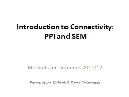 Introduction to Connectivity: