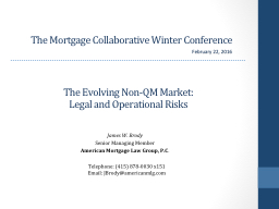 The Mortgage Collaborative Winter Conference PowerPoint PPT Presentation