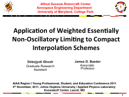 Application of Weighted Essentially Non-Oscillatory Limitin