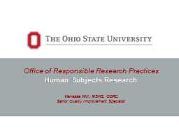 Office of Responsible Research Practices PowerPoint PPT Presentation