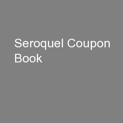 Seroquel Coupon Book