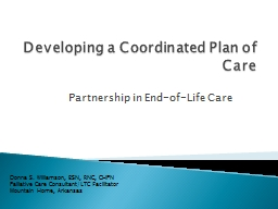 Developing a Coordinated Plan of Care