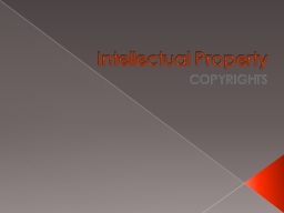 Intellectual Property PowerPoint PPT Presentation