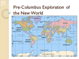 Pre-Columbus Exploration of the New World