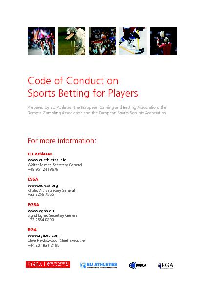 Code of Conduct on