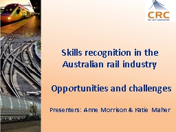 Skills recognition in the Australian rail PowerPoint PPT Presentation