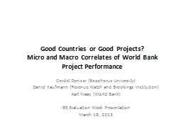 Good Countries or Good Projects?