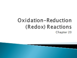 Oxidation-Reduction (