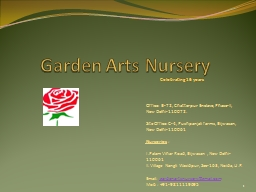 Garden Arts Nursery PowerPoint PPT Presentation